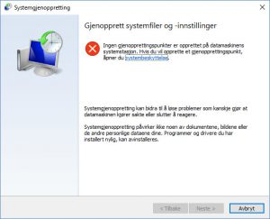 Gjenoppretting av filer i windows